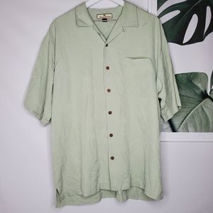 Tommy Bahama Silk Tropical Palm Green Button Up